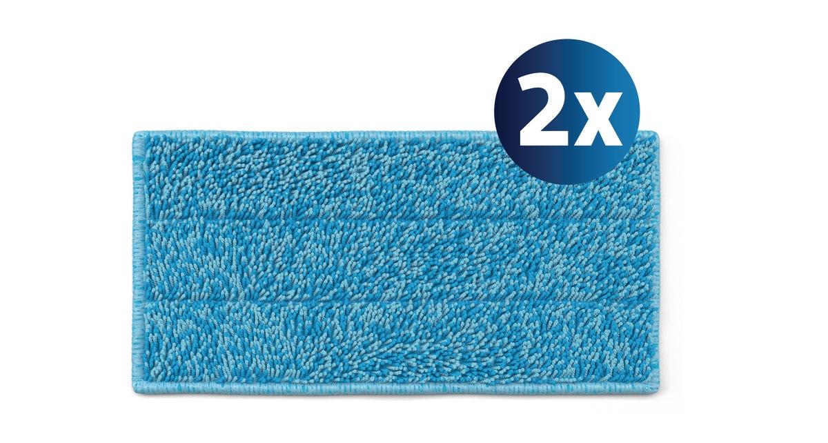 2 насадки из микрофибры для оптимальной очистки